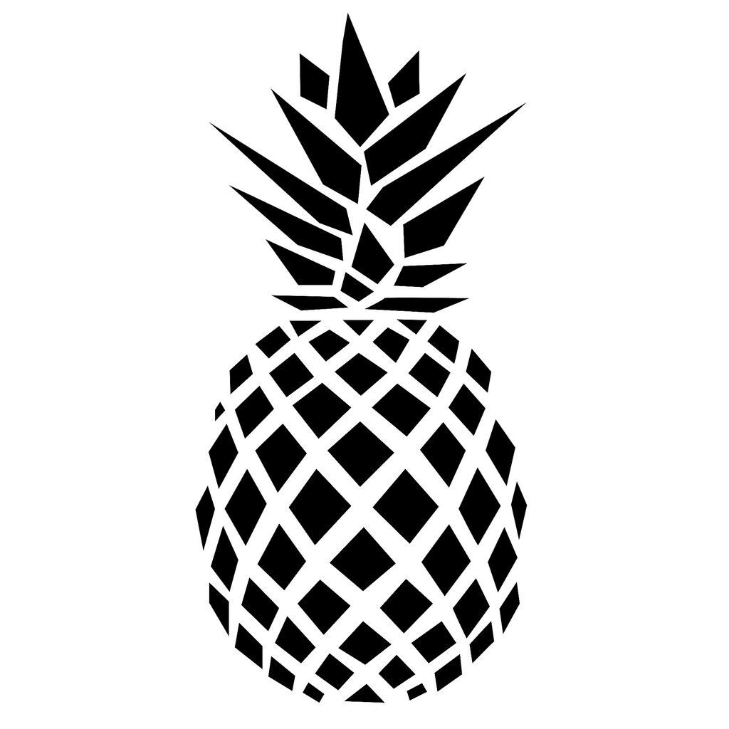 Ananas flocken maar pinterest pochoir cam o et flocage for Art minimaliste pdf
