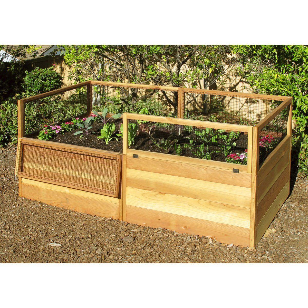 Raised vegetable garden cubby like raised gardenplanters