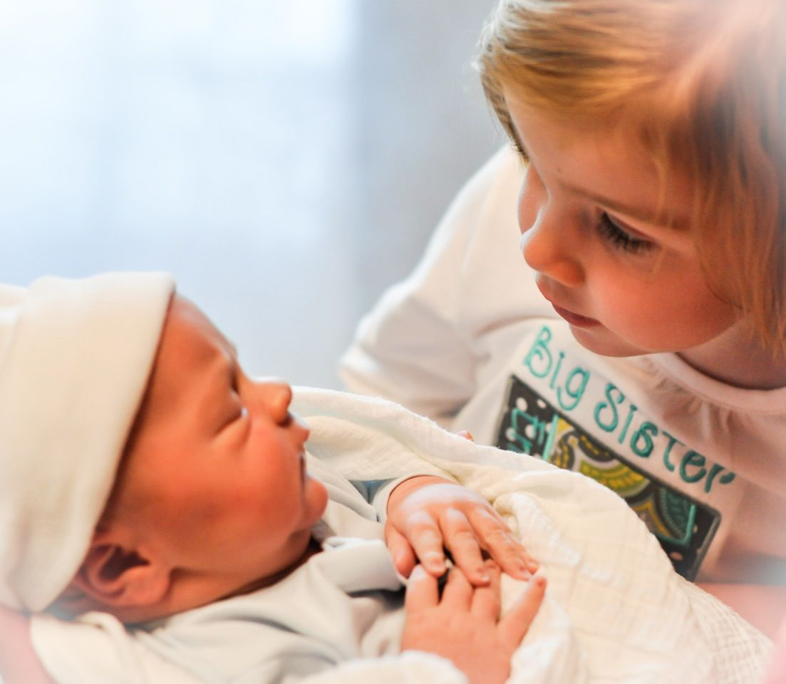 Newborn Brother With Big Sister First Time Love At First Sight