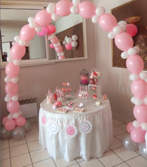 le bapt me traditionnel de ta ssa gabriela en rose et blanc party pinterest le bapteme. Black Bedroom Furniture Sets. Home Design Ideas