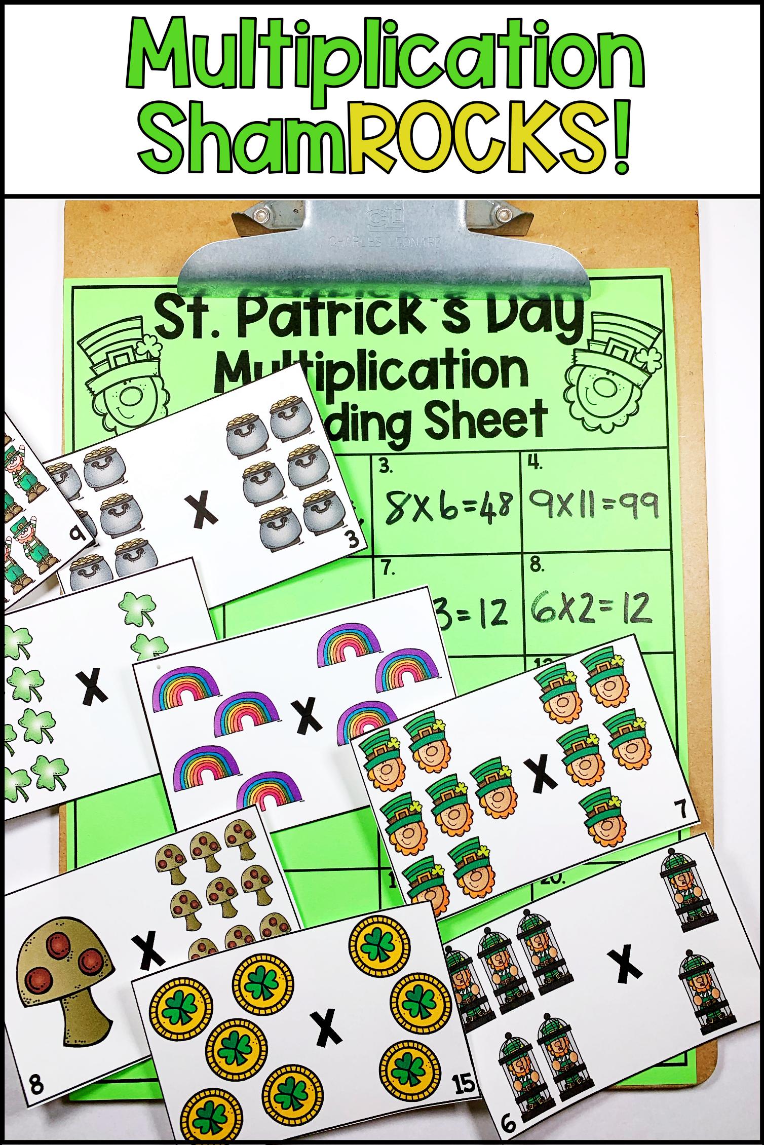 St Patrick S Day Multiplication Task Cards Task Cards