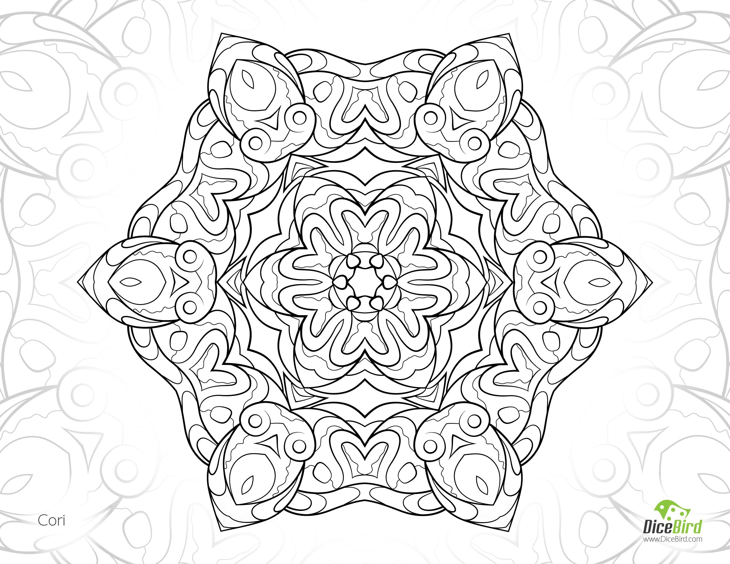 Cori Flower Free Printable Coloring Books For Adults