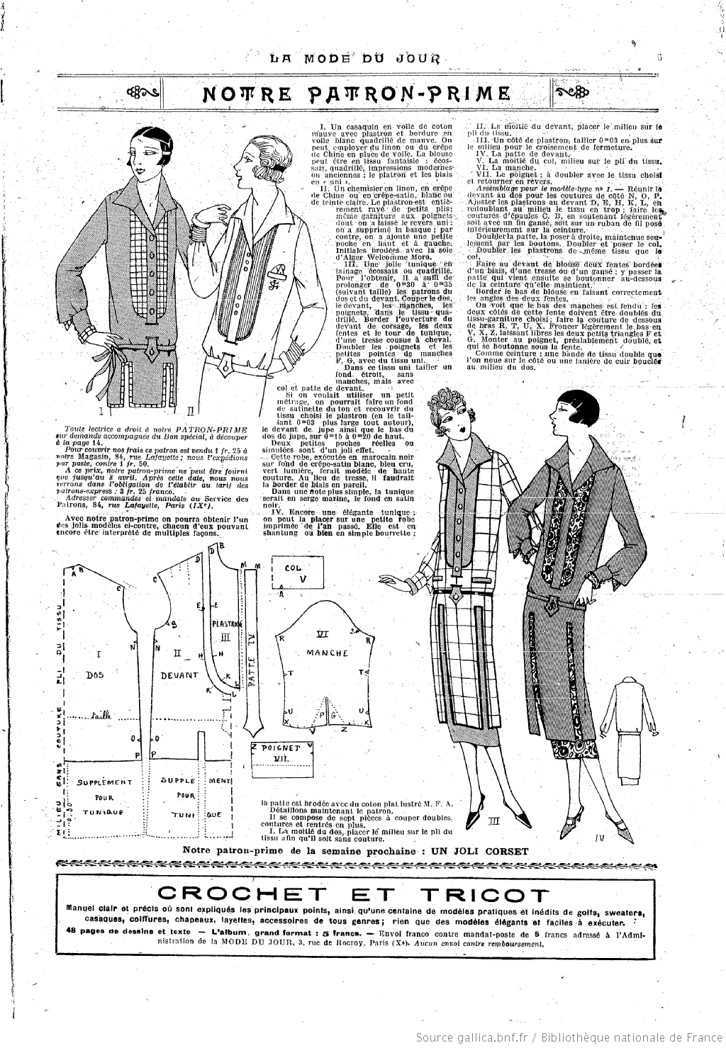 La Mode du jour. [ | Patrones de costura | Pinterest | Moda, Moda ...