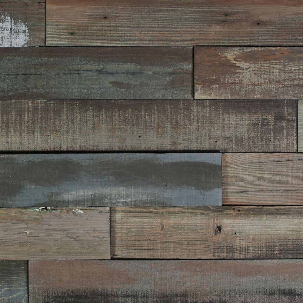 Nuvelle Deco Planks Weathered Gray 1 2 In Thick X 4 In Wide X 24 In Length Solid Hardwood Wall Planks 10 Sq Ft Case Nv7dp The Home Depot Wall Planks
