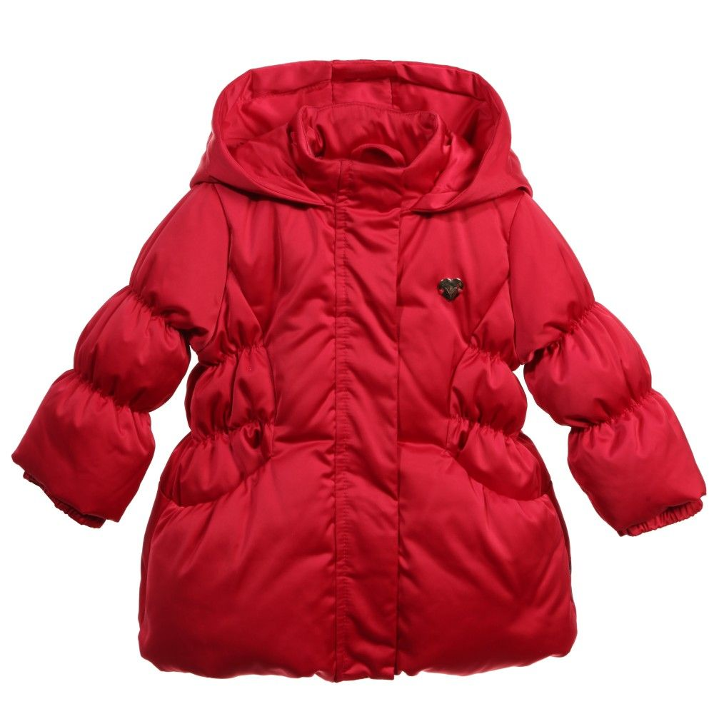 Baby Girls Dark Pink Down Padded Coat | Babies and Kids online