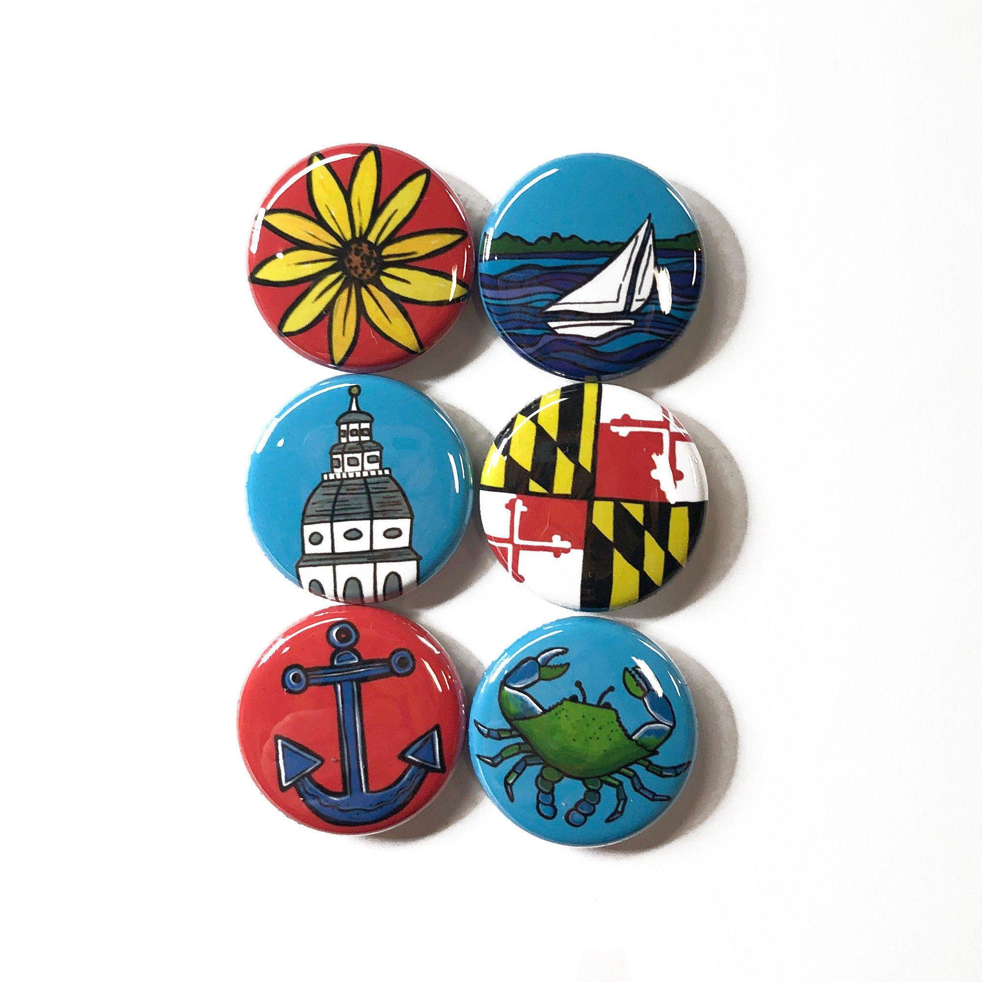colorful  eye 2.25 inch Inspiring Art pin back button
