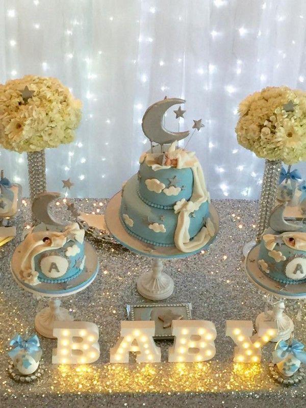 Elegant Twinkle Twinkle Little Star Moon Cake Star Baby
