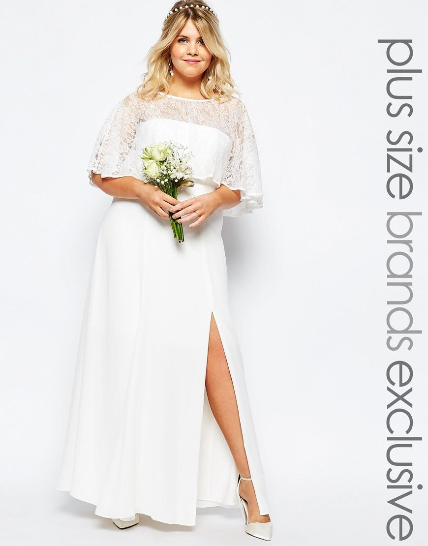Trendy Fame And Partners Plus Bridal Lace Maxi Dress Curvy wedding dresses bridal wear for