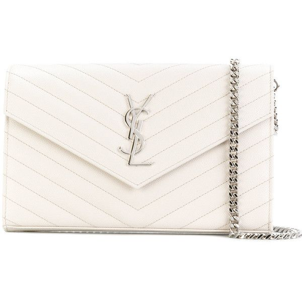 93573eefb4 Saint Laurent Monogram chain wallet (€1.335) ❤ liked on Polyvore featuring  bags, wallets, borse, yves saint laurent wallet, yves saint laurent bags,  ...