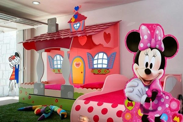 Dormitorio tem tico minnie mouse dise o y decoraci n del for Decoracion hogares infantiles