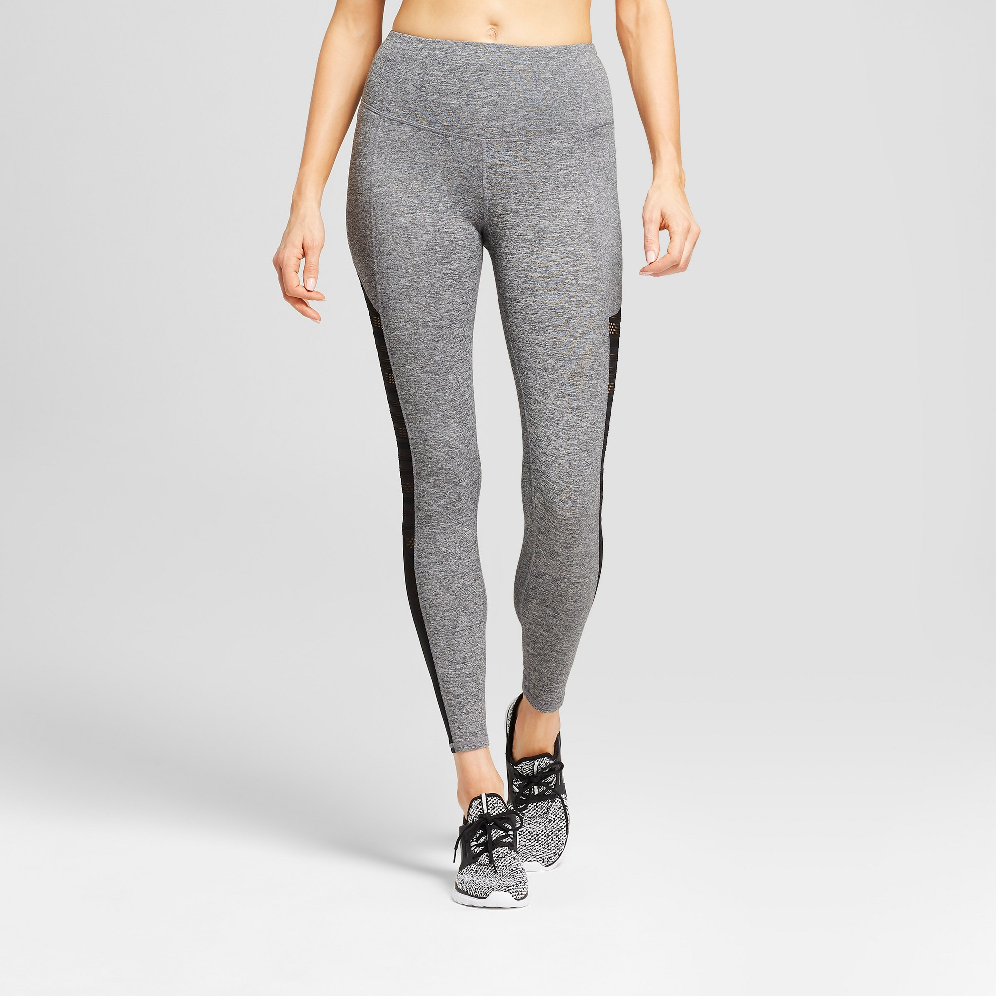 f77539df80a71e Women's Freedom High-Waist Mesh Insert Leggings - C9 Champion Dark Heather  Gray Xxl
