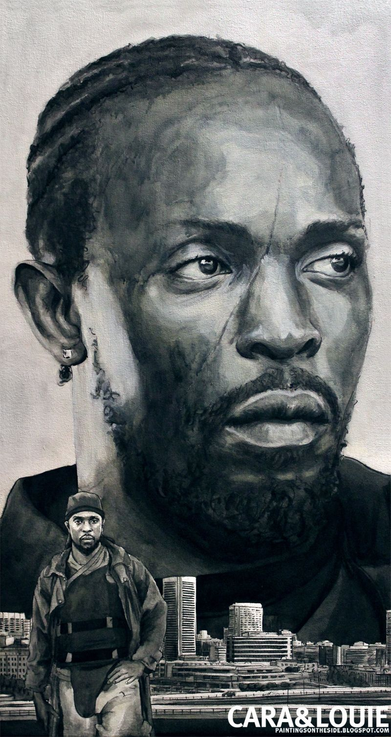 Omar Little from The Wire in ink and paint. | Characters in Ink and ...