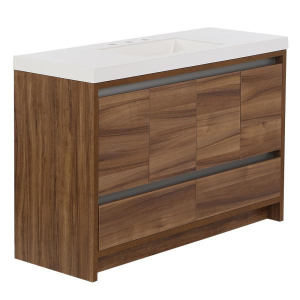 43+ Thornbriar 48 in w x 21 in d bathroom vanity cabinet in polar white custom