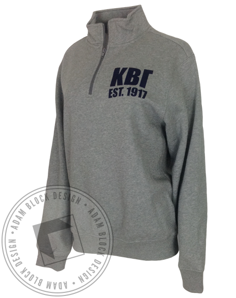 Kappa Beta Gamma Crest HalfZip by Adam Block Design | Custom Greek Apparel & Sorority Clothes | www.adamblockdesign.com