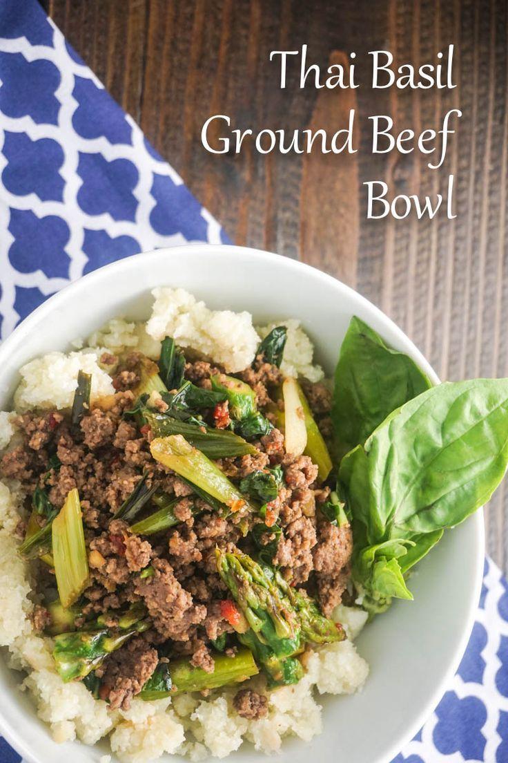 Thai Basil Ground Beef Bowl Slender Kitchen