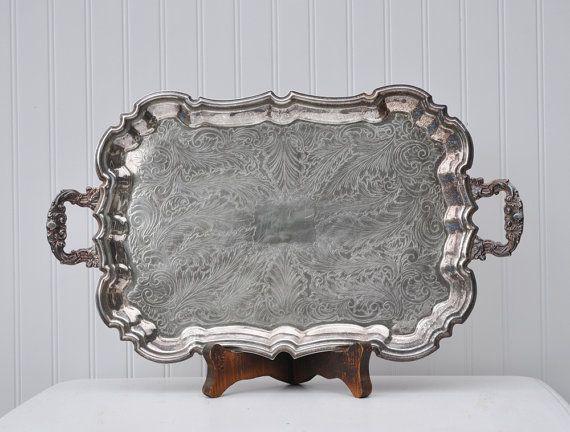 Vintage Silver Tray | Vintage silver trays | Pinterest ...