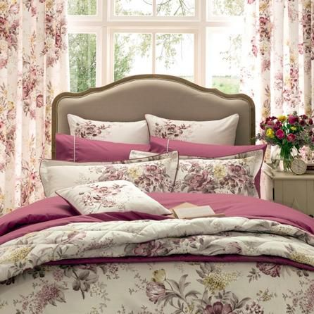 Dorma Pink Camilla Collection Bedspread Bed Linen Bed