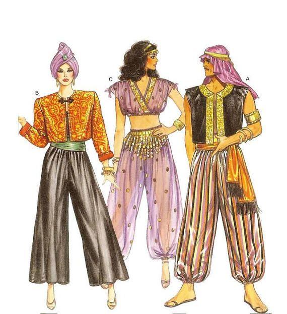 eded2f0574 Oriental Arabian Nights Sultan Belly Dancer Unisex Fancy Dress ...
