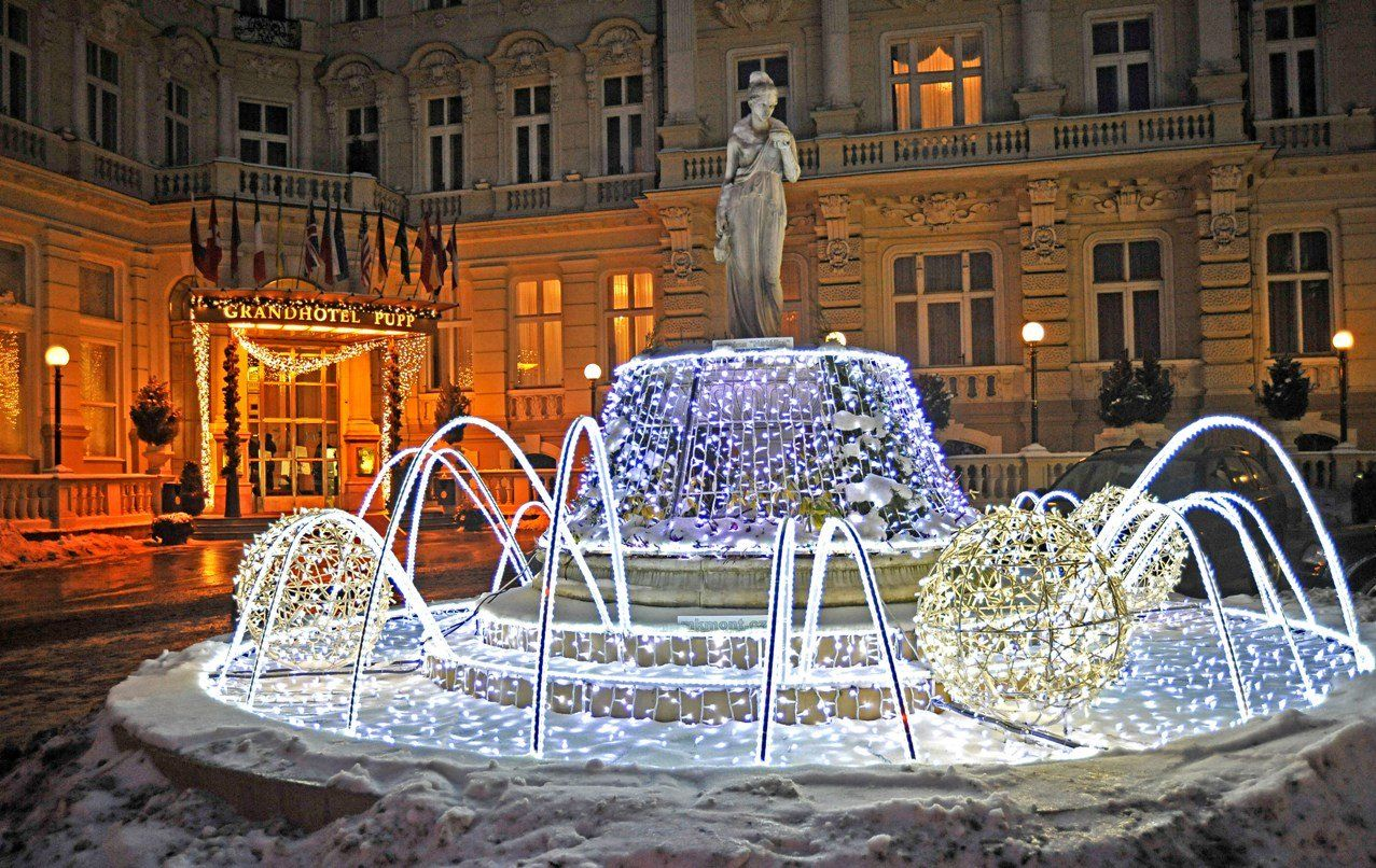 Festive Winter Days At The Grandhotel Pupp Karlovy Vary Cz Beautiful Places On Earth Festive Winter Places To Travel