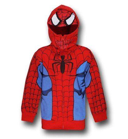 Spiderman Face Off Logo Hoodie,Avengers Superhero Marvel Comics Adult /& Kids Top