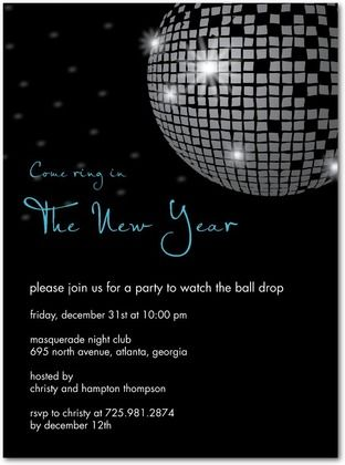 New Years Party invites tinyprintscom newyears holiday New