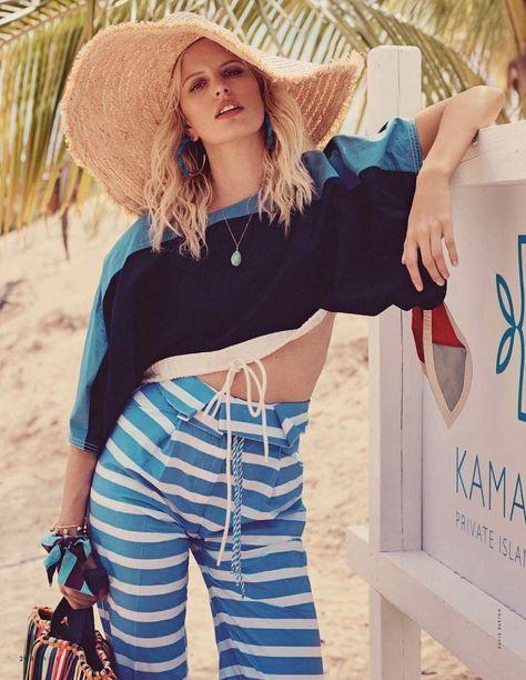 """""""Welcome to Bahamas"""" Karolina Kurkova for ELLE Italia May 2017"""