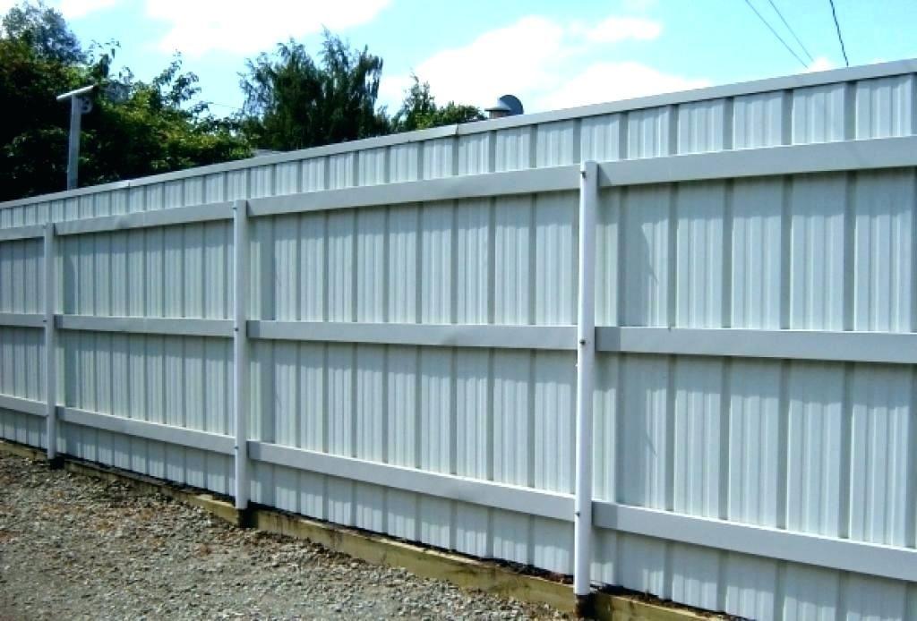 Corrugated Sheet Metal Panels Fence Inspiration Ideas Sheet