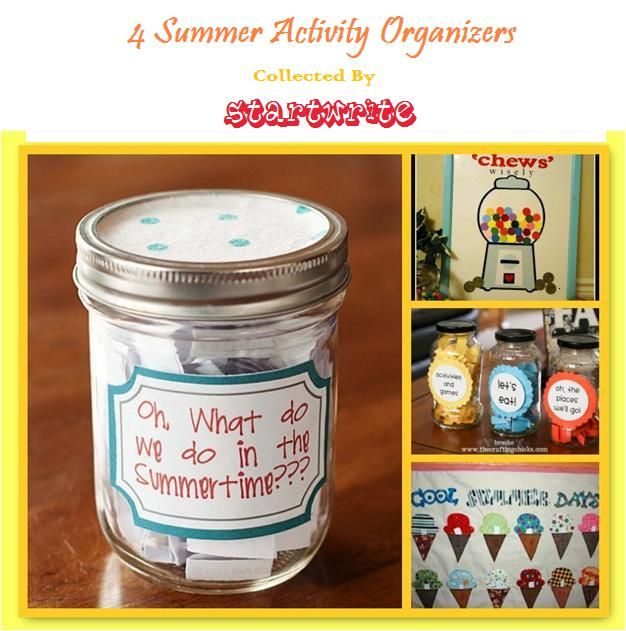 4 Summer Activity Organizers Collected by Startwrite