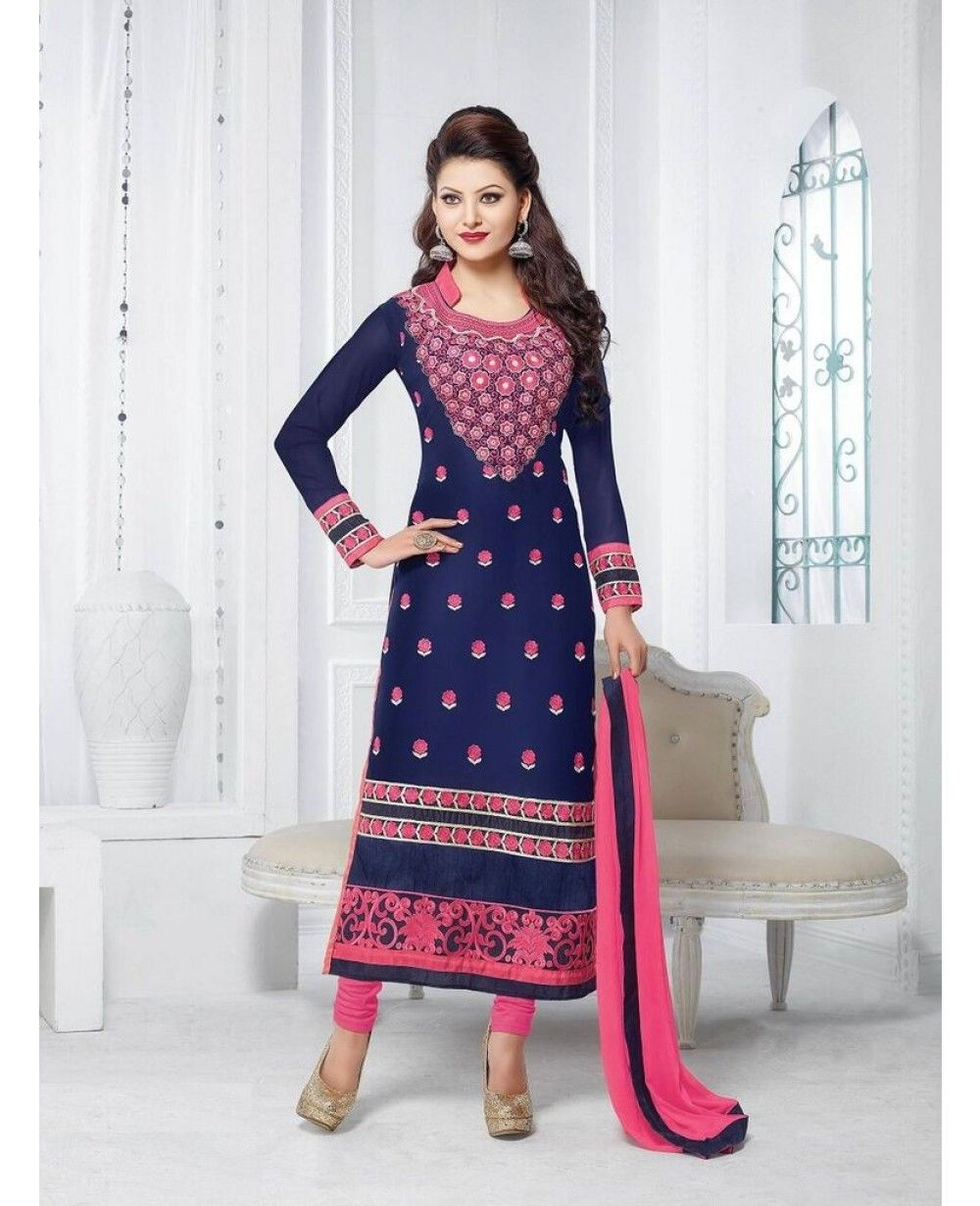 Fency Dress Material Suit Set - Dress Materials - Ethnic Wear - Indian Wear