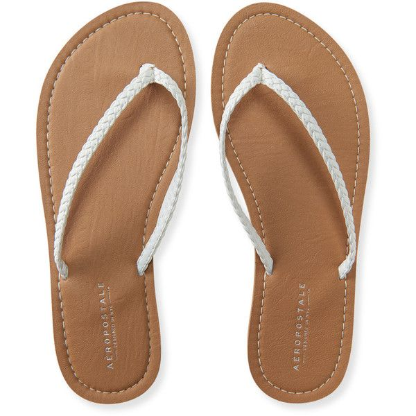 000c6d6d4e9f Aeropostale Braided Flip-Flop ( 12) ❤ liked on Polyvore featuring shoes