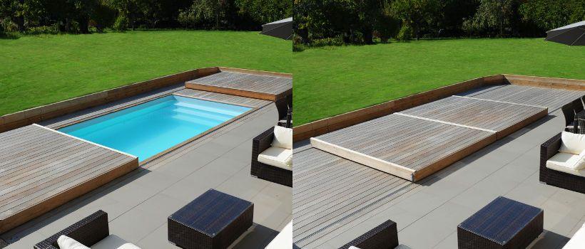terrasse mobile bois pour piscine  le Rolling Deck Idées pour la