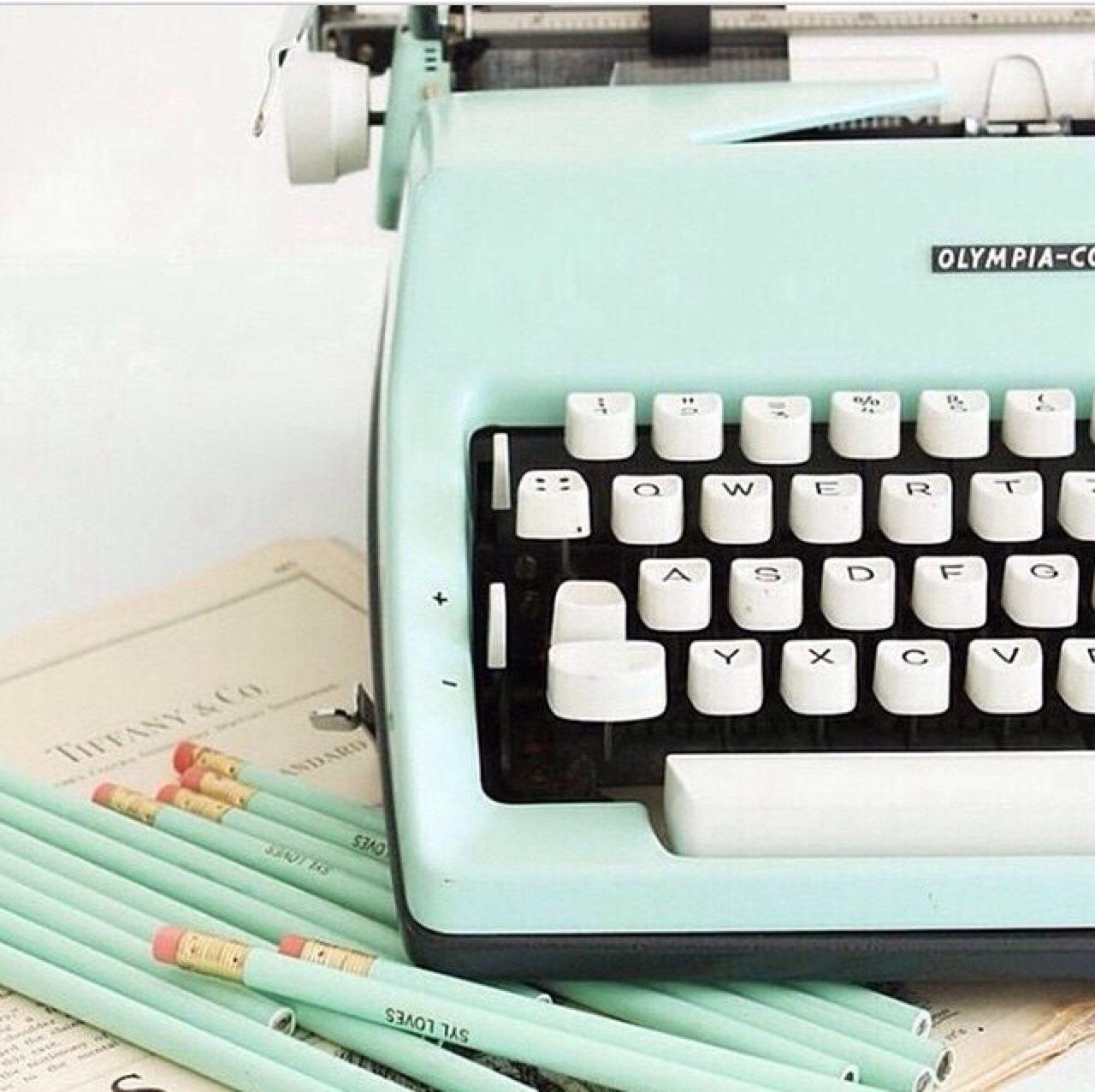 Grafika Vintage Pastel And Typewriter Mint Aesthetic Mint Green Aesthetic Green Aesthetic