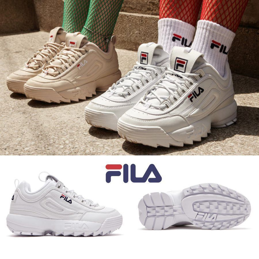 new style 68c38 3885e FILA Disruptor2 Shoes Athletic Running White FS1HTA1071XWWT SZ 4-13 FILA  RunningCrossTraining