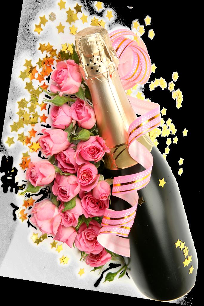 grattis champagne blommor