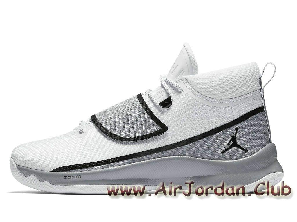 Chaussure de Basketball Jordan Super Fly 5 PO Noir Blanc