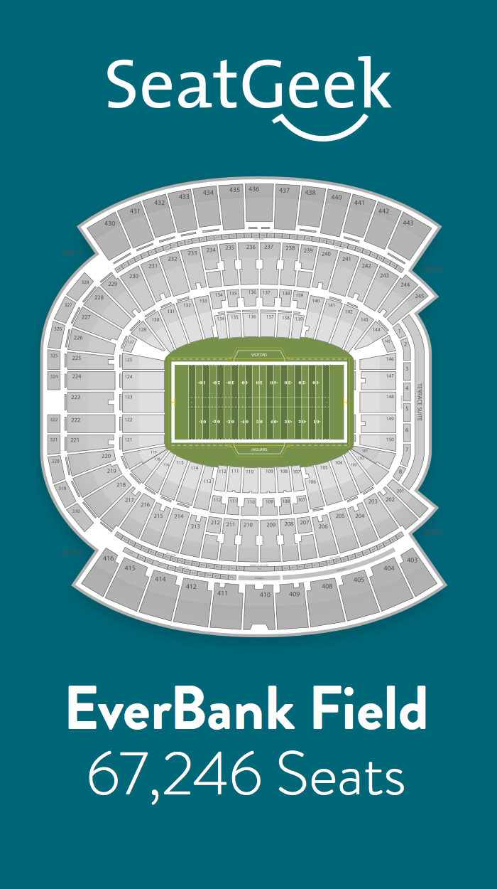 Find The Best Deals On Jacksonville Jaguars Tickets And Know Exactly Where You Ll Sit With Seatgeek Jacksonville Jaguars Jaguars Jacksonville
