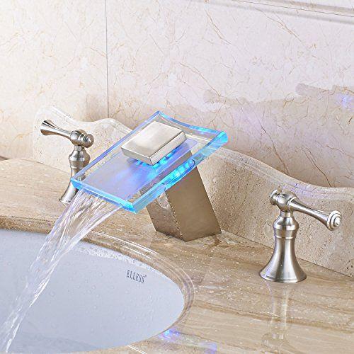 Bathroom Faucets Diy Rozin Glass Waterfall Spout Widespread