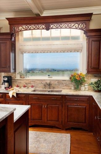 Magnificent Cherry Cabinets Brick Backsplash And Light Countertop Download Free Architecture Designs Grimeyleaguecom