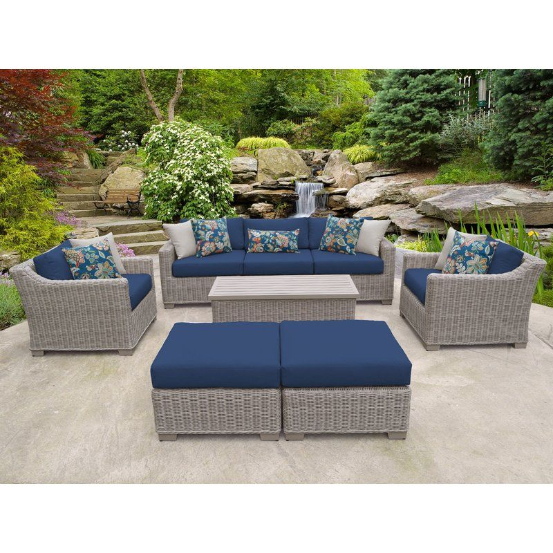 Claire 8 Piece Sofa Seating Group With Cushions Seating Groups Outdoor Furniture Sets Deep Seat Cushions