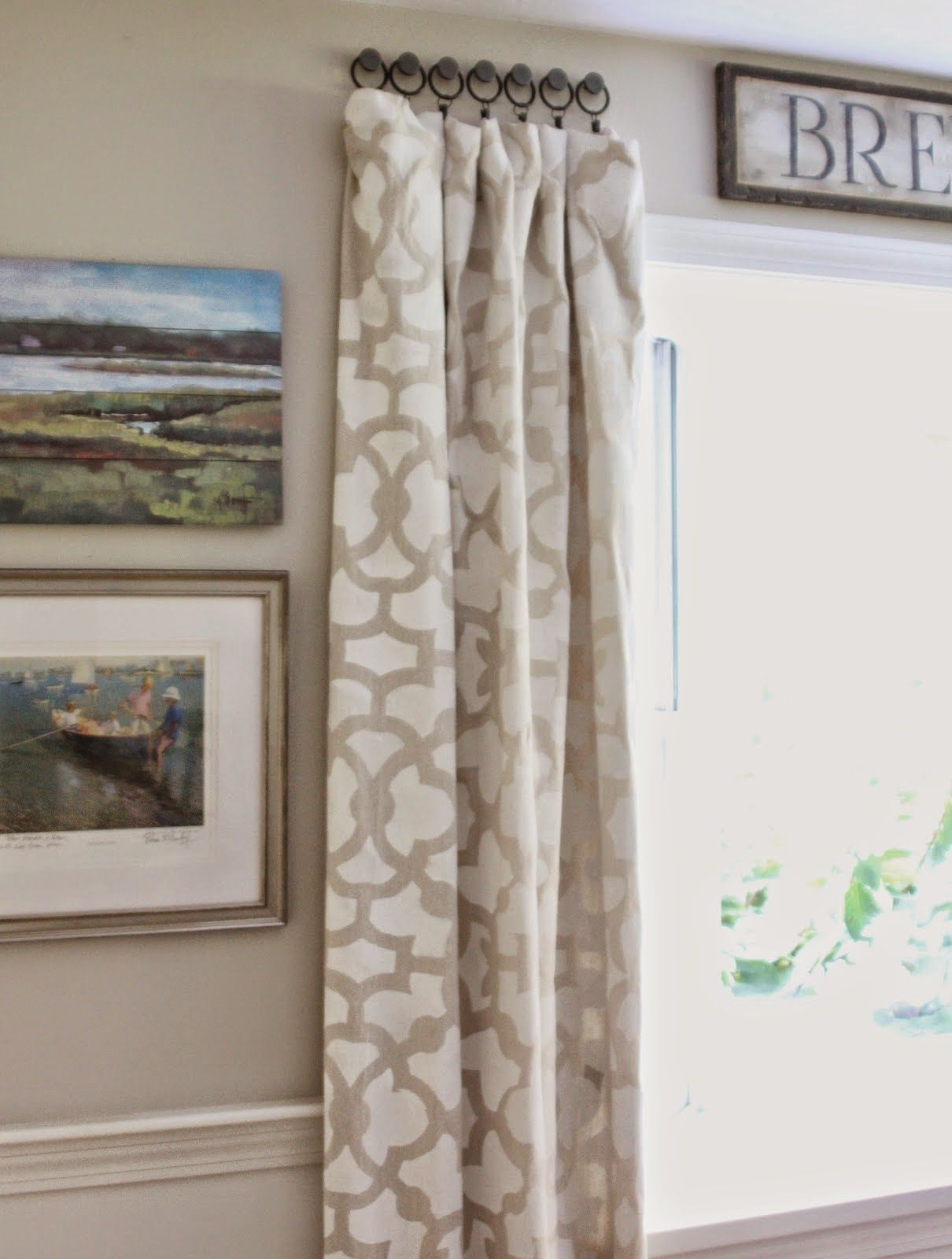 Short curtain rods for side panels - Simple Details Best Of The Nest August Link Party Panel Curtainsbedroom