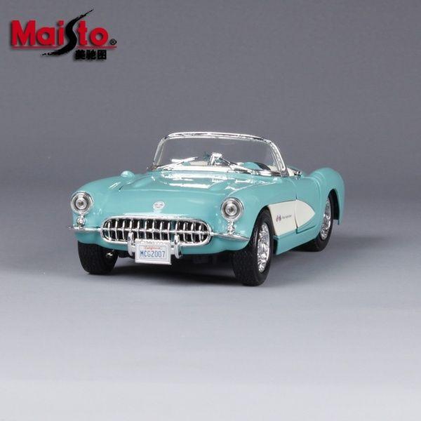 1957 Corvette 1:24 Original Simulation Alloy Car Models Chevrolet Convertible Classic Car | Wish