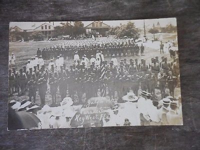 Key West Florida Parade Ground 1912 Real Photo Postcard RPPC