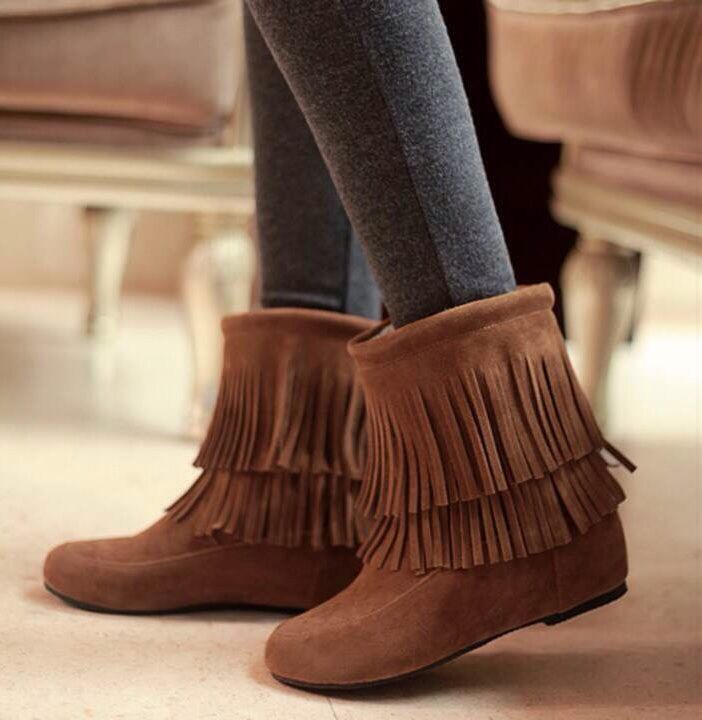 P.S. I Love You More Boutique | Low Fringe Boots | www ...
