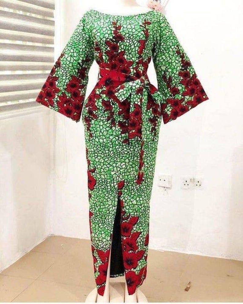 African women dress, African ankara touch, dashiki