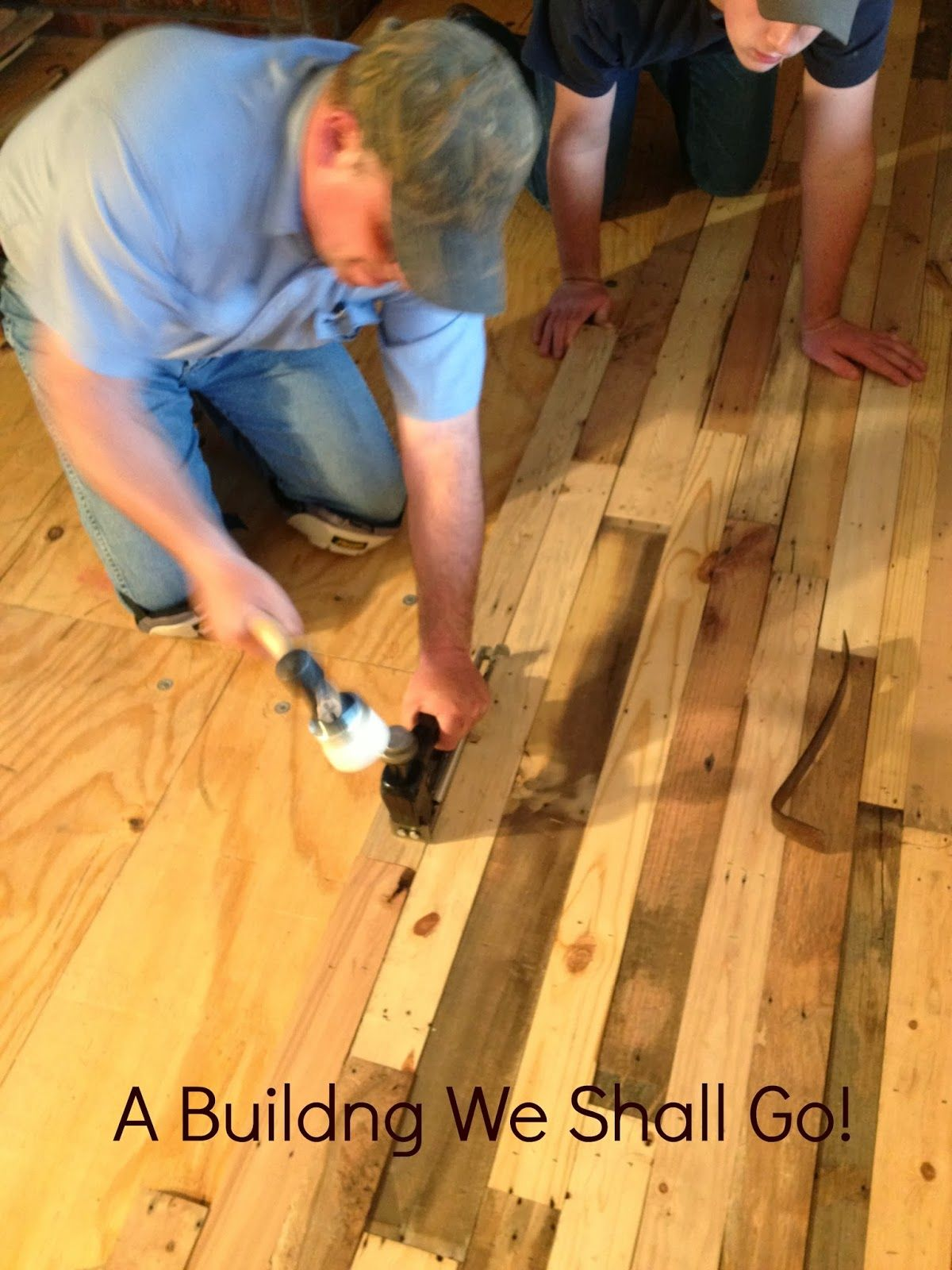 A building we shall go the art of pallet wood flooring diy pallet floor a thrifty repurposed pallets to a beautiful floor idea solutioingenieria Image collections