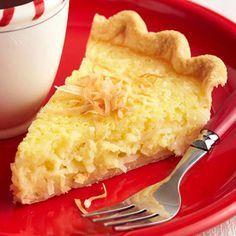 Old fashioned buttermilk coconut pie