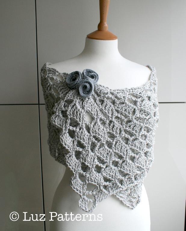 Summer Evening wrap crochet pattern 145 - via @Craftsy   Crochet ...
