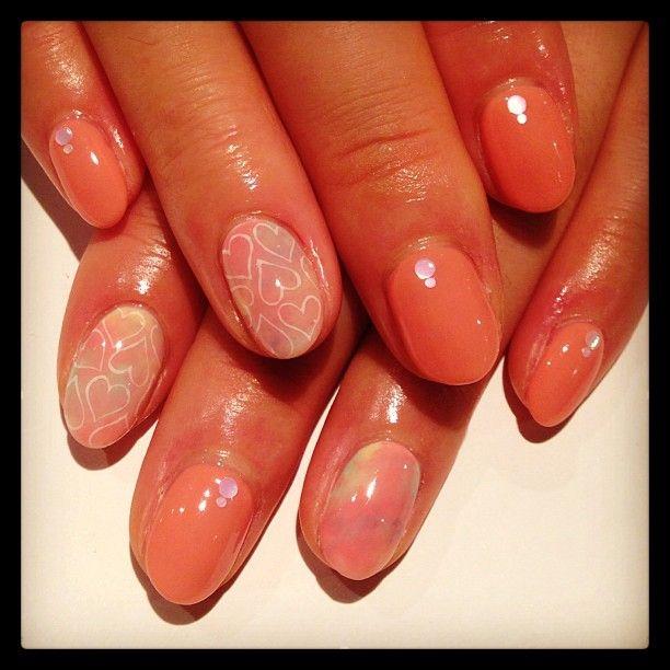 Tie dyeing×hart art nails #avarice #art #kayo #design #nails #nailart #nailsalon #tiedyeing #hart #pink  (NailSalon AVARICE)