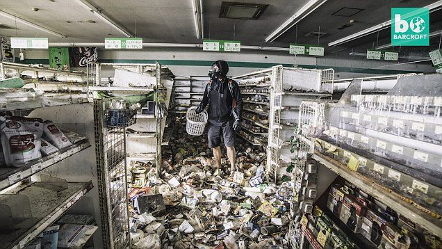 Disturbing pictures from the Fukushima red zone:   Explorer and photographer, Keow Wee Loong, 27, ventures into Fukushima's exclusion zone after several towns were devastated by an earthquake and tsunami in 2011. Keow captured eerie photographs, including half-finished laundry and trashed shops.