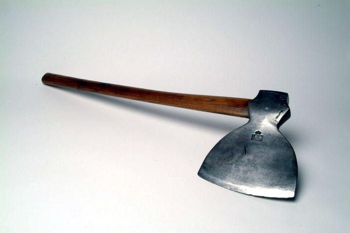 Executioners Axe: England, 1820. Courtesy of the Museum